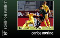 Weiterlesen: Der Spieler der 31. Runde: Carlos Merino
